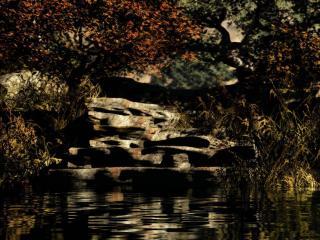 обои Металлическая река фото