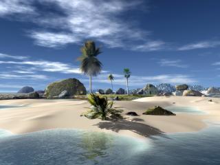 обои Одинокий песчанный островок фото