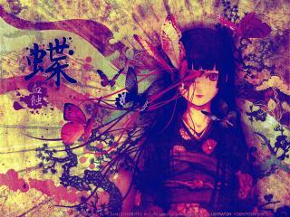 обои Hell Girl - Адская девочка с бабочками фото