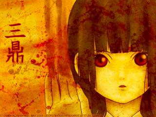 обои Hell Girl - Адская девочка с кровью фото