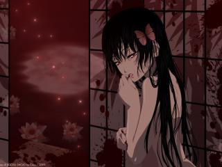 обои Hell Girl - Девушка с длинными черными волосами фото