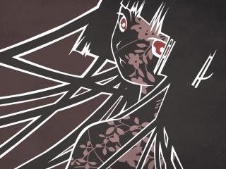 обои Hell Girl - Адская девушка с красными глазами фото