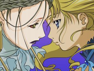 обои Simoun - Две девушки смотрят друг на друга фото