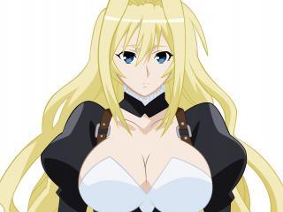 обои Sekirei - Красивая блондинка в черно-белой одежде фото