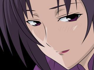 обои Sekirei - Взгляд брюнетки фото