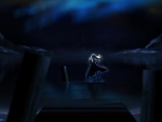 обои Sekirei - Девушка ночью в воде фото