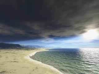 обои Тучи сгустились над морем фото
