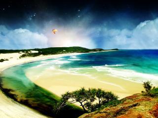 обои Фантастическое побережье. 3D фото
