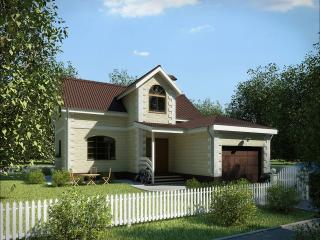 обои Загородный белый домик фото