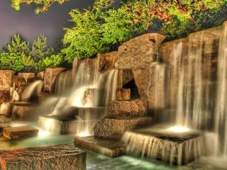 обои Декоративный каменный водопад фото