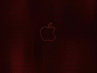 обои Красная сетка Apple фото