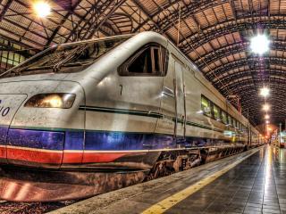 обои Скоростной поезд в метро фото