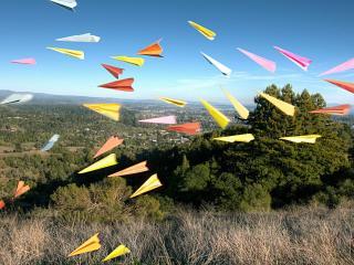 обои Разноцветные самолетики фото