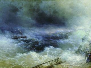 обои Иван АЙВАЗОВСКИЙ (1817-1900). Океан. Холст,   масло фото