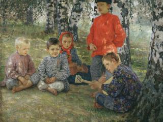 обои Николай БОГДАНОВ-БЕЛЬСКИЙ (1868 — 1945). Виртуоз. Холст,   масло фото