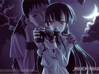 обои Moon Phase - Девушка фотограф и парень фото