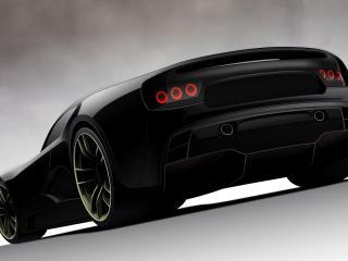 обои Черный спортинвный автомобиль фото