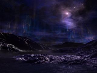 обои Горная поверхность планеты фото