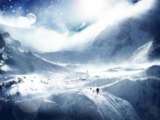 обои Замороженный другой мир фото