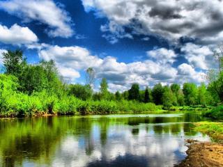 обои Летний красочный природный пейзаж фото