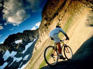обои для рабочего стола: Горный велоспорт