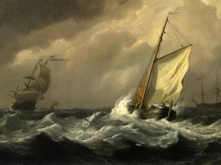 обои Корабли в шторме фото