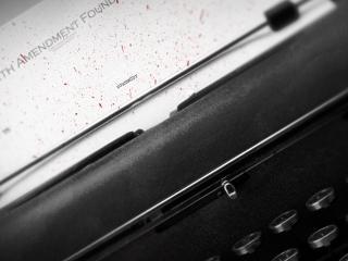 обои Старая печатная машинка фото