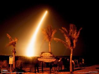 обои Старт ракеты в тропиках фото