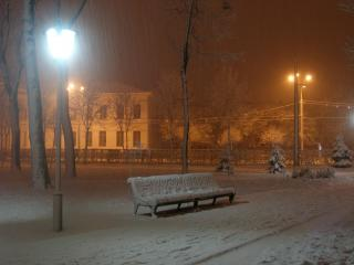обои Зимний парк фото