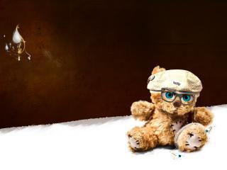 обои Плюшевый мишка по кличке Тедди в очках фото
