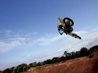 обои Небо карьер мотоцикл фото