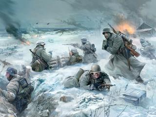 обои Немецкая пехота зимой фото