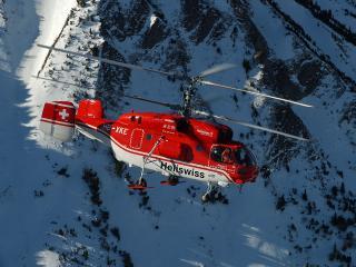 обои Ка-32 в горах фото