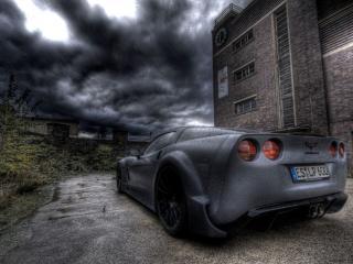обои Chevrolet Corvette Во мрачной обстановке фото
