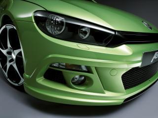 обои Фара тюнингованного VW Scirocco фото