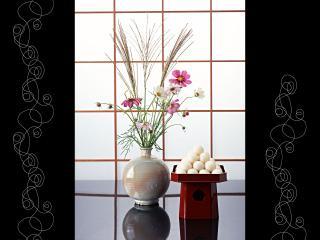 обои Японсая ваза с цветами фото