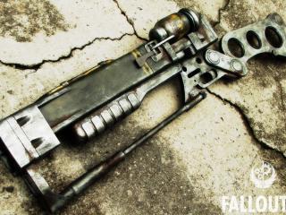 обои Игра Fallout 3 - пушка фото