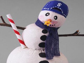 обои Тряпичный снеговик фото