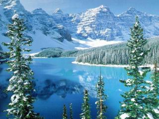 обои Зима на озере фото