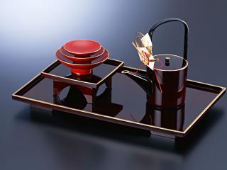 обои Чайный сервис на подносе фото
