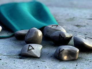 обои Камни со знаками фото