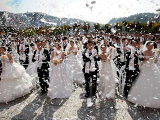 обои Массовая корейская свадьба фото