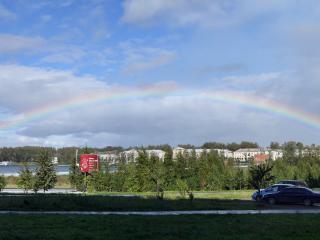 обои Краснотурьинск - радуга над городом фото