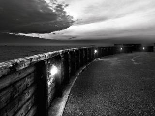 обои Вечерний берег моря фото