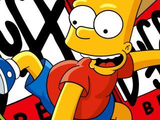 обои Барт Симпсон в панике фото