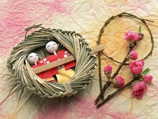 обои Венок счастья в Японском стиле фото