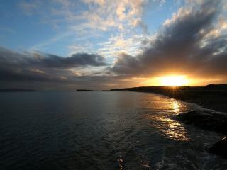 обои На море во время заката фото