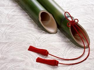обои Музыкальный инструмент из бамбука фото