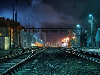 обои Ночная станция фото