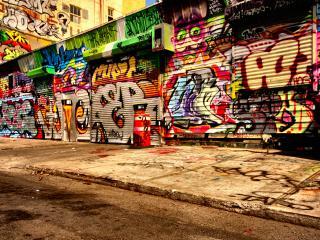 обои Граффити на гаражах фото